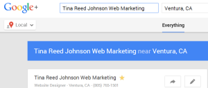 Tina Reed Johnson Google Local search