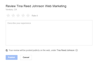 Tina Reed Johnson local review box