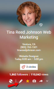 Tina Reed Johnson Google Plus page